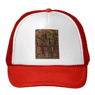 big red mesh hat