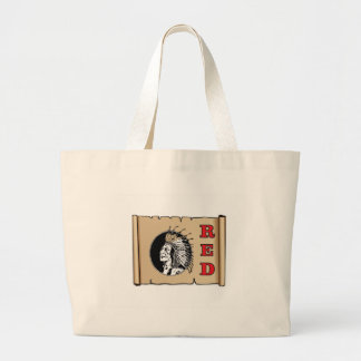 big red chief large tote bag