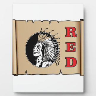 big red chief plaque