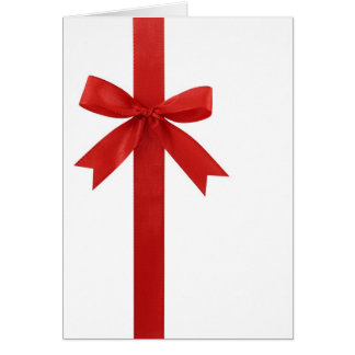 Big Red Christmas Bow Greeting Card
