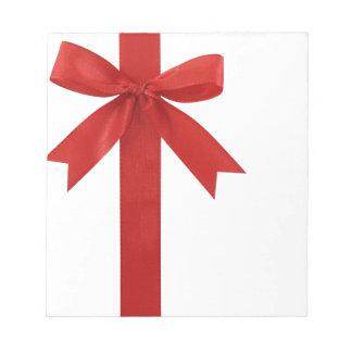 Big Red Christmas Bow Memo Pad