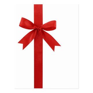 Big Red Christmas Bow Postcard