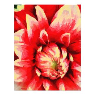 Big red flower 21.5 cm x 28 cm flyer