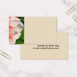 Big red flower business card