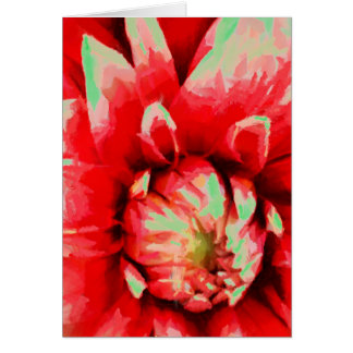 Big red flower card