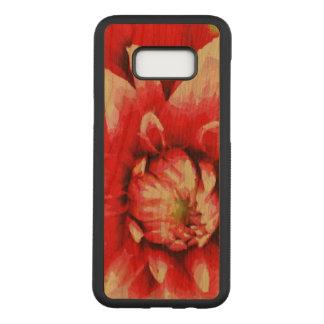 Big red flower carved samsung galaxy s8+ case
