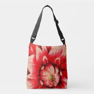 Big red flower crossbody bag