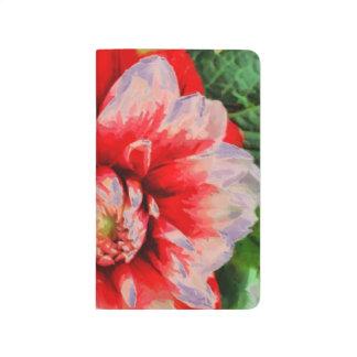 Big red flower journal