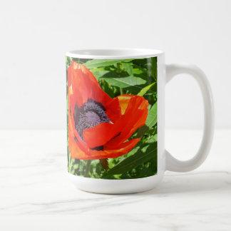 Big Red Flower Nice contrast Basic White Mug