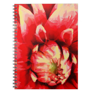 Big red flower note book