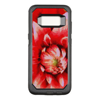 Big red flower OtterBox commuter samsung galaxy s8 case