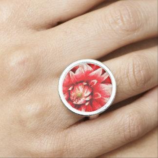 Big red flower ring