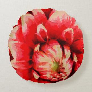 Big red flower round cushion