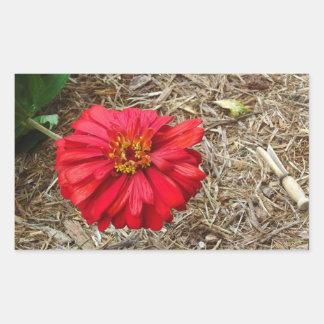 Big Red Flower Sticker