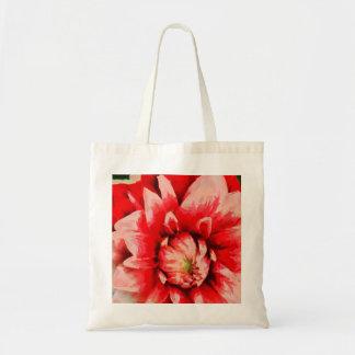 Big red flower tote bag