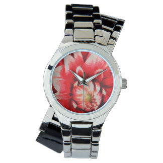 Big red flower watches