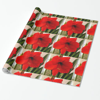 BIG RED FLOWER wrapping paper
