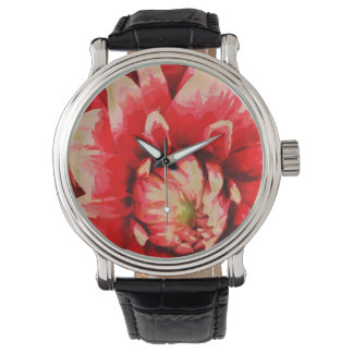 Big red flower wrist watches