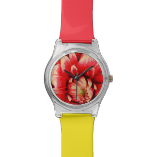 Big red flower wristwatch