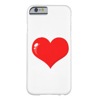 Big Red Heart Barely There iPhone 6 Case