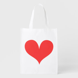 Big Red Heart Reusable Grocery Bag