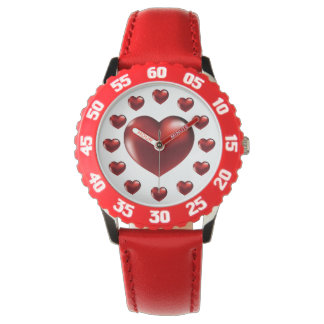 Big Red Heart Wristwatch for Kids