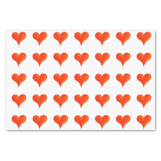 Big red hearts tissue paper