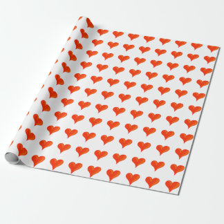 Big red hearts wrapping paper