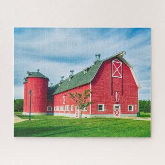 Big Red Hoosier Barn Jigsaw Puzzle