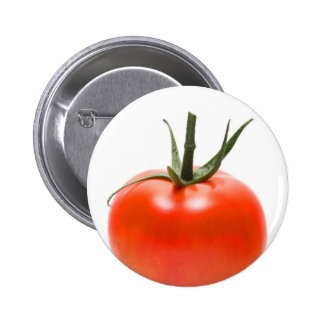 Big red juicy tomato pinback buttons