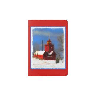 Big Red Lighthouse, Holland, MI Passport Holder