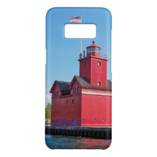 Big Red lighthouse in harbor Case-Mate Samsung Galaxy S8 Case