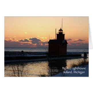 Big Red Lighthouse Note Card
