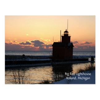 Big Red Lighthouse Postcard