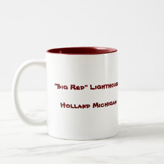 """Big Red"" Lighthouse... Two-Tone Mug"