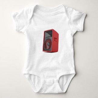 Big red loudspeaker baby bodysuit