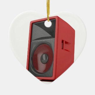 Big red loudspeaker ceramic ornament