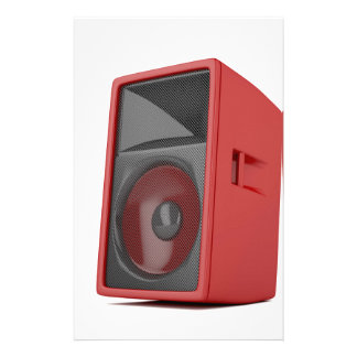 Big red loudspeaker stationery