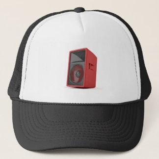 Big red loudspeaker trucker hat