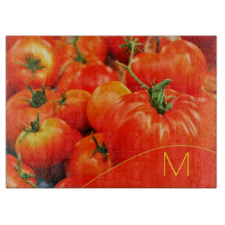 Big Red Monogrammed Kitchen Tomatoes Cutting Boards