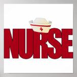 BIG RED NURSE WITH NURSING CAP POSTER