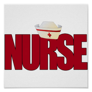 BIG RED NURSE WITH NURSING CAP POSTER