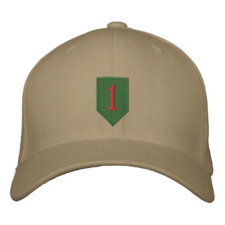 Big Red One Patch Embroidered Baseball Cap