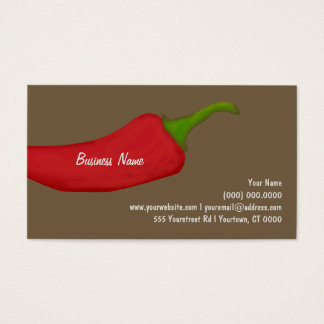 Big Red Pepper Business Card