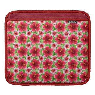 Big Red Pink Hibiscus Flowers iPad Sleeves