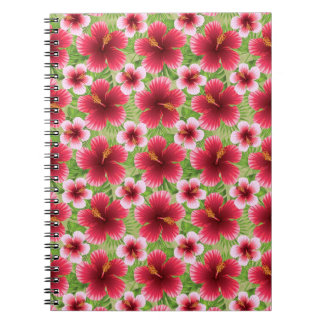 Big Red Pink Hibiscus Flowers Note Book