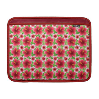 Big Red Pink Hibiscus Flowers Sleeve For MacBook Air