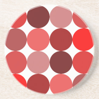 Big Red Polka Dots Beverage Coaster