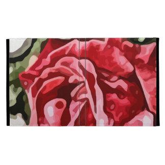 Big red rose painting iPad folio covers