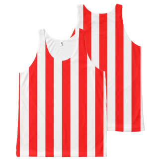 Big Red Stripes All-Over Print Singlet